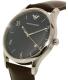 Emporio Armani Men's Dress AR1944 Brown Leather Quartz Watch - Side Image Swatch