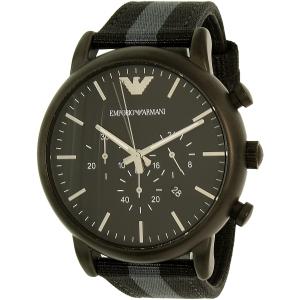 Emporio Armani Men's Dress AR1948 Black Nylon Quartz Watch