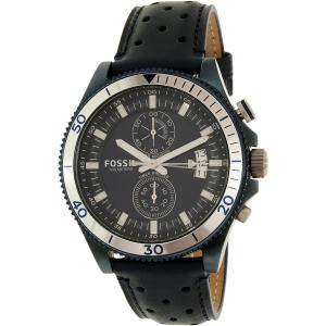 Fossil Men's Wakefield CH3012 Blue Leather Quartz Watch