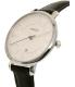 Fossil Women's Jacqueline ES3972 Black Leather Quartz Watch - Side Image Swatch