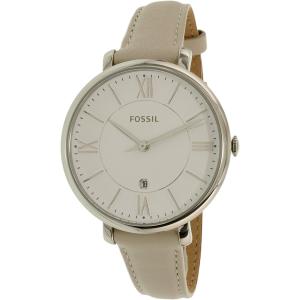 Fossil Women's Jacqueline ES4020SET Silver Leather Quartz Watch