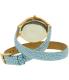 Michael Kors Women's Slim Runway MK2478 Gold Leather Quartz Watch - Back Image Swatch