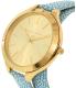 Michael Kors Women's Slim Runway MK2478 Gold Leather Quartz Watch - Side Image Swatch