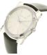Michael Kors Women's Kempton MK2483 Silver Leather Quartz Watch - Side Image Swatch