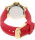Michael Kors Women's Dylan MK2488 Pink Silicone Quartz Watch - Back Image Swatch