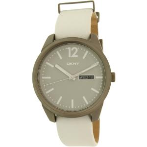 Dkny Women's Bryant Park NY2445 White Leather Quartz Watch