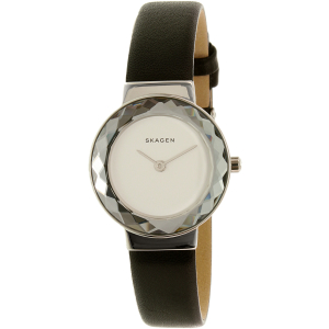 Skagen Women's Lenora SKW2428 Silver Leather Quartz Watch
