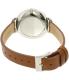 Skagen Women's Hagen SKW2434 Brown Leather Quartz Watch - Back Image Swatch