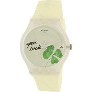 Swatch Men's New Gent SUOW119 White Silicone Swiss Quartz Watch