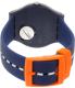 Swatch Men's New Gent SUOZ221 Blue Silicone Swiss Quartz Watch - Back Image Swatch