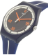 Swatch Men's New Gent SUOZ221 Blue Silicone Swiss Quartz Watch - Side Image Swatch