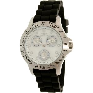 Invicta Women's Speedway 21968 Silver Silicone Quartz Watch