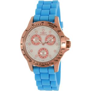 Invicta Women's Speedway 21990 Blue Silicone Quartz Watch