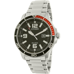 Citizen Men's Eco-Drive AW1520-51E Silver Stainless-Steel Eco-Drive Watch