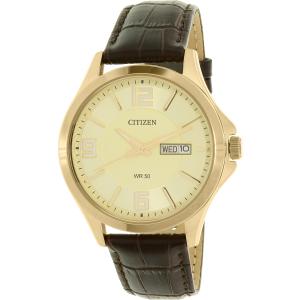 Citizen Men's BF2003-09P Gold Leather Quartz Watch