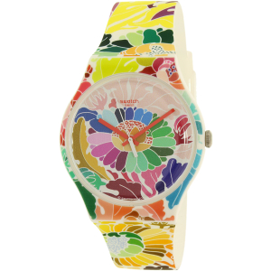 Swatch Women's Gent SUOW126 Multicolor Silicone Swiss Quartz Watch