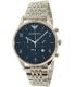Emporio Armani Men's Dress AR1942 Silver Stainless-Steel Quartz Watch - Main Image Swatch
