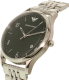 Emporio Armani Men's Dress AR1943 Silver Stainless-Steel Quartz Watch - Side Image Swatch