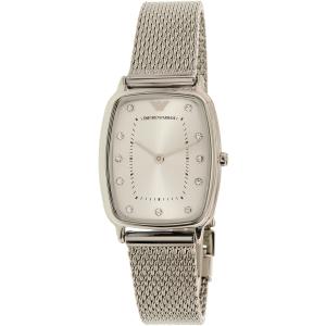 Emporio Armani Women's Retro AR2495 Silver Stainless-Steel Quartz Watch