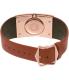 Emporio Armani Women's Fashion AR7424 Brown Leather Quartz Watch - Back Image Swatch