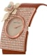 Emporio Armani Women's Fashion AR7424 Brown Leather Quartz Watch - Side Image Swatch
