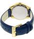 Armani Exchange Women's Dylann AX5435 Blue Leather Quartz Watch - Back Image Swatch