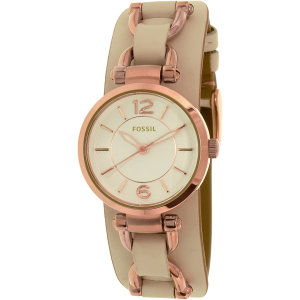 Fossil Women's Georgia ES3934 Beige Leather Quartz Watch