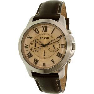 Fossil Men's Grant FS5152 Brown Leather Quartz Watch