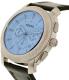 Fossil Men's Machine FS5160 Black Leather Quartz Watch - Side Image Swatch