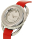 Marc Jacobs Women's Jerrie MJ1444 Red Leather Quartz Watch - Side Image Swatch