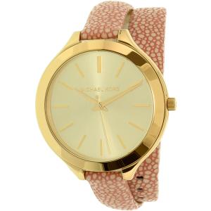 Michael Kors Women's Slim Runway MK2476 Pink Leather Quartz Watch