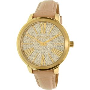 Michael Kors Women's Hartman MK2480 Gold Leather Quartz Watch