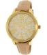 Michael Kors Women's Hartman MK2480 Gold Leather Quartz Watch - Main Image Swatch