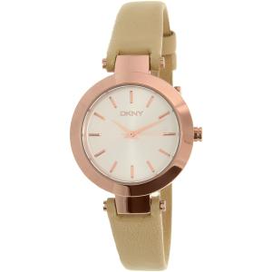 Dkny Women's Stanhope NY2457 Beige Leather Quartz Watch
