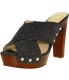 Vince Camuto Women's Elora Leather Ankle-High Fabric Sandal - Main Image Swatch