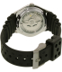 Seiko Men's 5 Automatic SNZ453J2 Black Rubber Automatic Watch - Back Image Swatch
