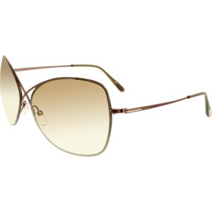 Tom Ford Women's Colette FT0250-48F-63 Bronze Butterfly Sunglasses