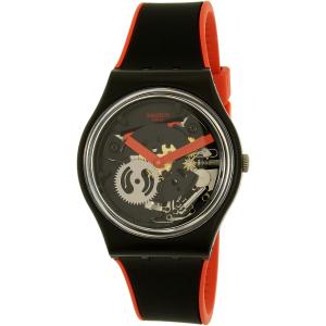 Swatch Women's Gent GB290 Black Silicone Swiss Quartz Watch