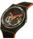 Swatch Women's Gent GB290 Black Silicone Swiss Quartz Watch - Side Image Swatch