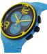 Swatch Men's Chrono Plastic SUSS100 Blue Silicone Swiss Quartz Watch - Side Image Swatch