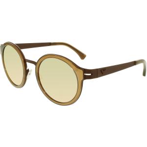 Emporio Armani Men's Mirrored  EA2029-31034Z-48 Brown Round Sunglasses