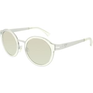 Emporio Armani Men's Mirrored  EA2029-31076G-48 Grey Round Sunglasses