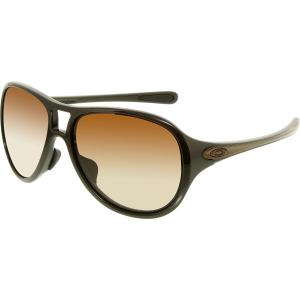 Oakley Women's Gradient Twenty Six OO9218-02 Brown Rectangle Sunglasses