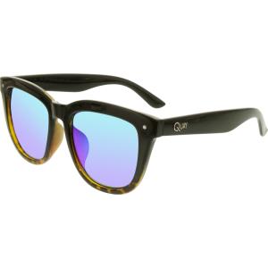 Quay Men's Mirrored Zeus QM-000102-TORT/GRN Black Square Sunglasses