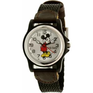 Disney Women's Mickey Mouse MCK620 Black Nylon Analog Quartz Watch