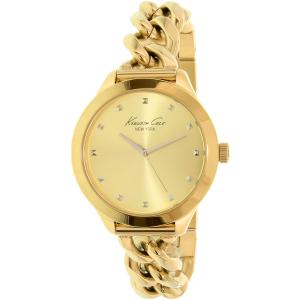Kenneth Cole Women's New York 10027348 Gold Stainless-Steel Quartz Watch