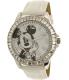 Disney Women's Mickey Mouse MCKAQ1306S White Leather Analog Quartz Watch - Main Image Swatch