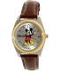 Disney Women's Mickey Mouse MCK613 Brown Leather Analog Quartz Watch - Main Image Swatch