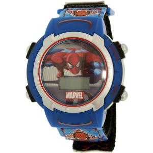 Disney Boy's Spider-Man SPM254K Blue Cloth Quartz Watch