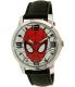 Disney Men's Ultimate Spider-Man SPMAQ579 Black Leather Analog Quartz Watch - Main Image Swatch